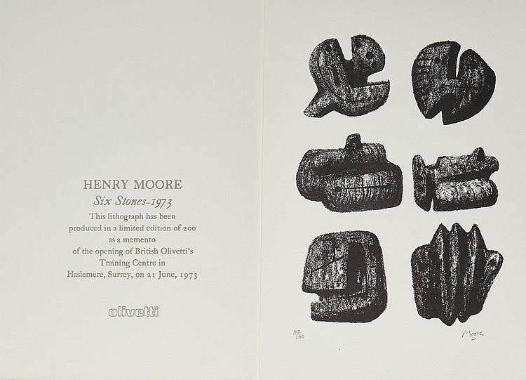 Henry Moore (1898-1986) - Six Stones