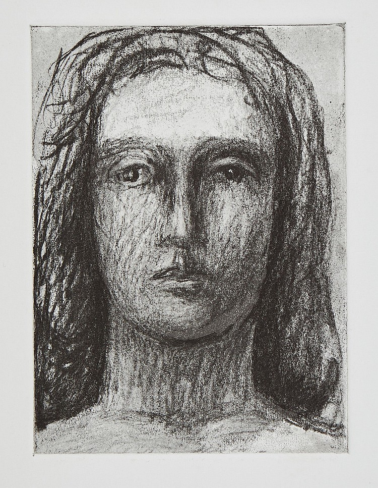 Henry Moore (1898-1986) - Head of Girl I (+1 other work)