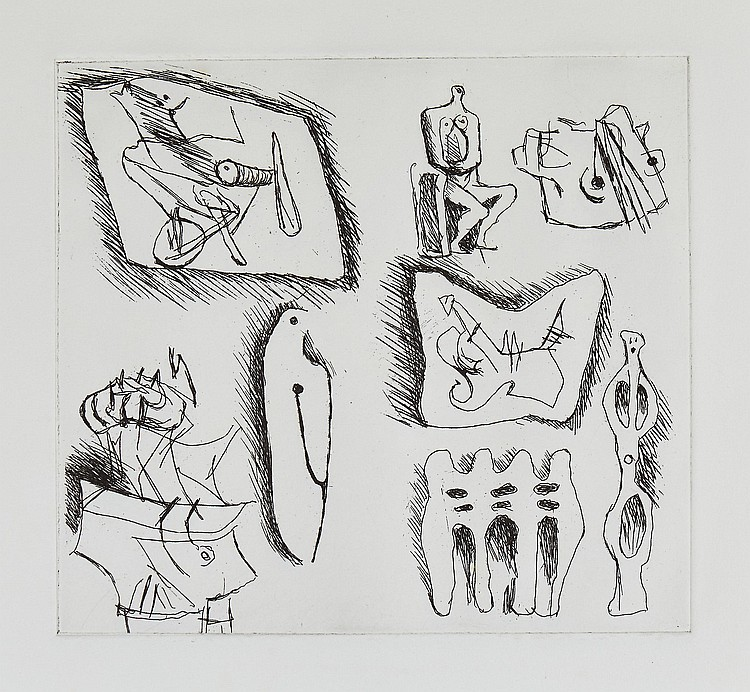 Henry Moore (1898-1986) - Sculptural Ideas