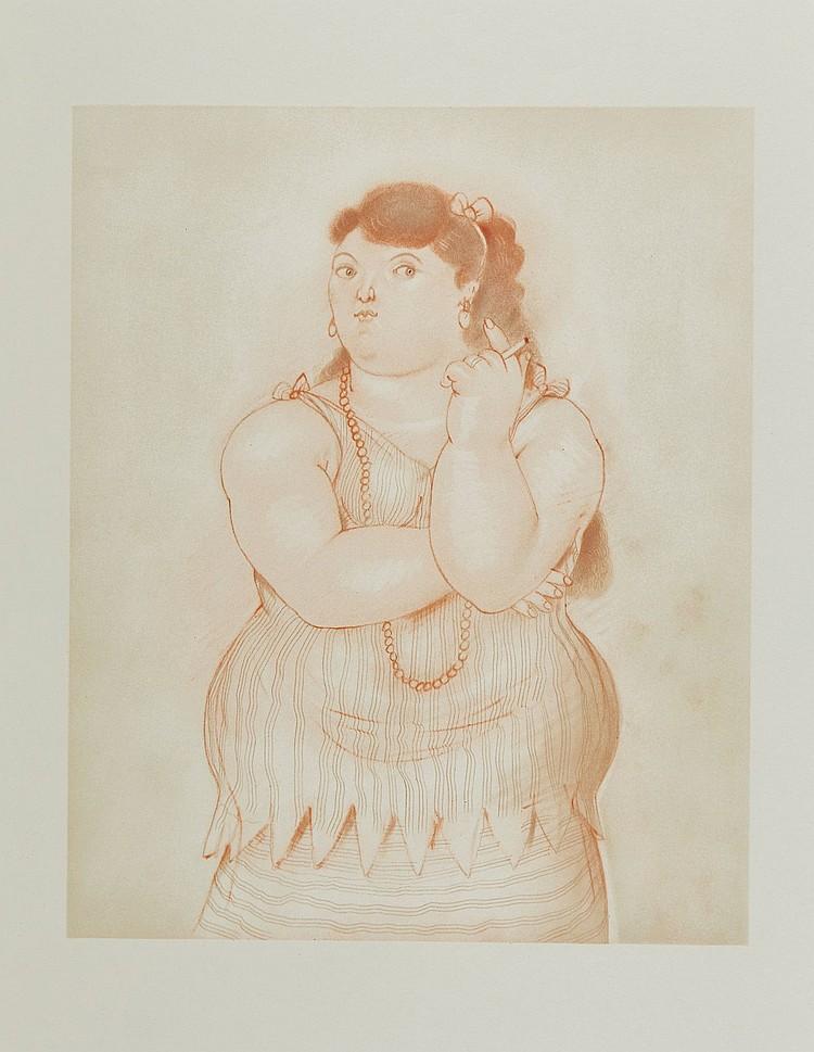 Fernando Botero (b.1932) - Mujer Fumando