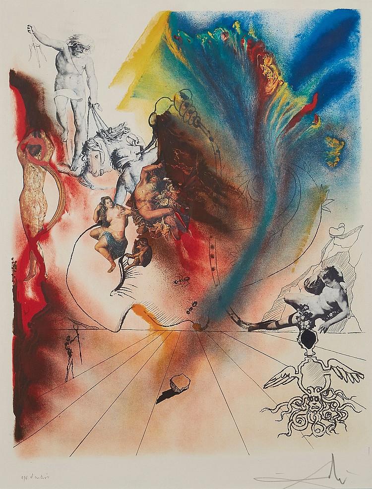 Salvador Dalí (1904-1989) - Romantic (M.&L.1394)
