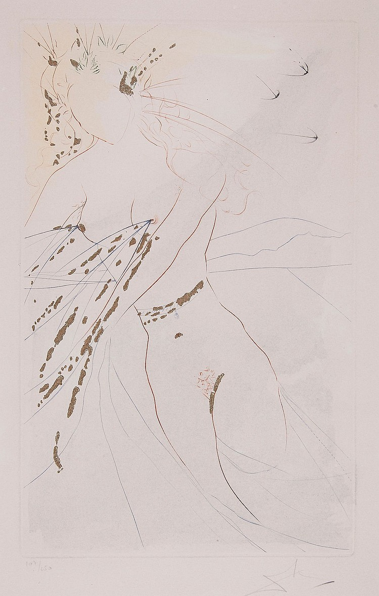 Salvador Dalí (1904-1989) - Thou art Fair, My Love, and Thy Breasts (M.&L.476)
