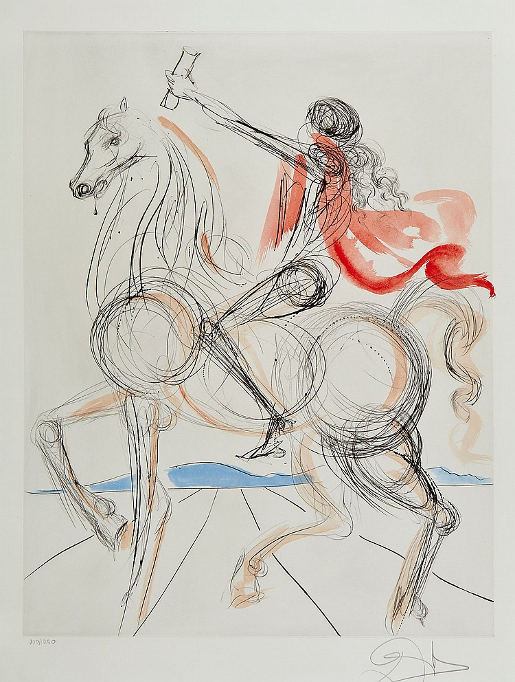 Salvador Dalí (1904-1989) - Hommage à Leonardo (M.&L.763-765)