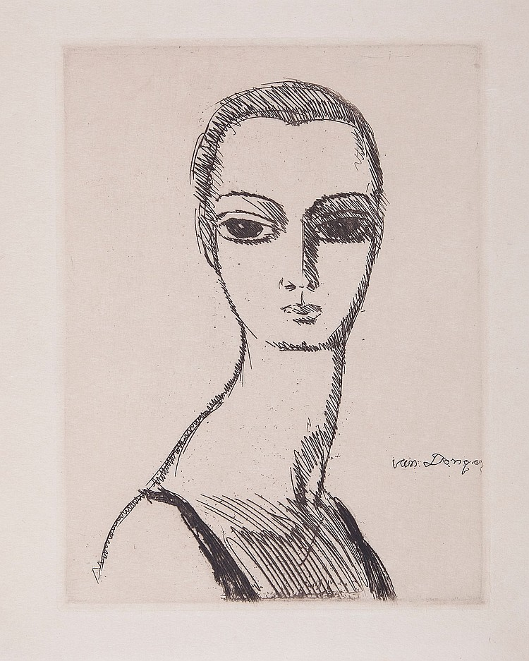 Kees van Dongen (1877-1968) - Girl with Swan's Neck
