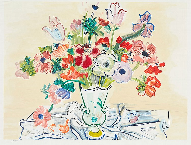 Raoul Dufy (1877-1953)(after) - Baie de Sainte Adresse and Anemones