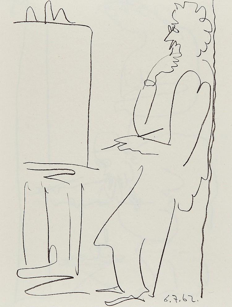 Pablo Picasso (1881-1973) - Le Peintre et son Modele (C.120)