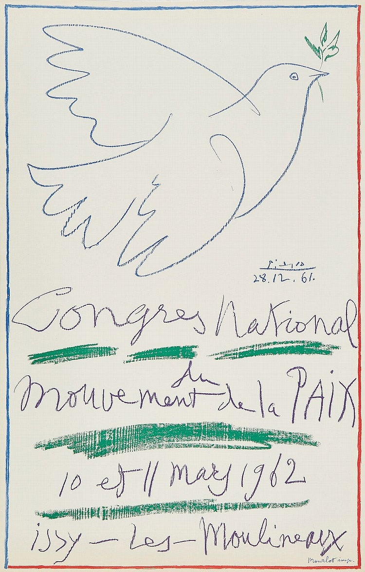 Pablo Picasso (1881-1973)(after) - Poster for the National Congress of the Peace Movement
