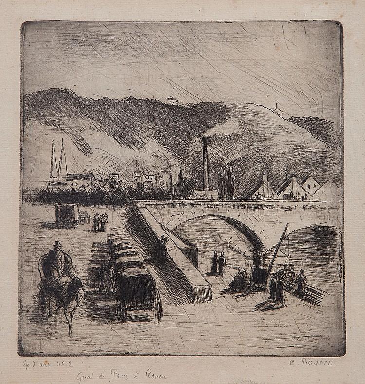 Camille Pissarro (1830-1903) - Quai de Paris a Rouen (D.123)