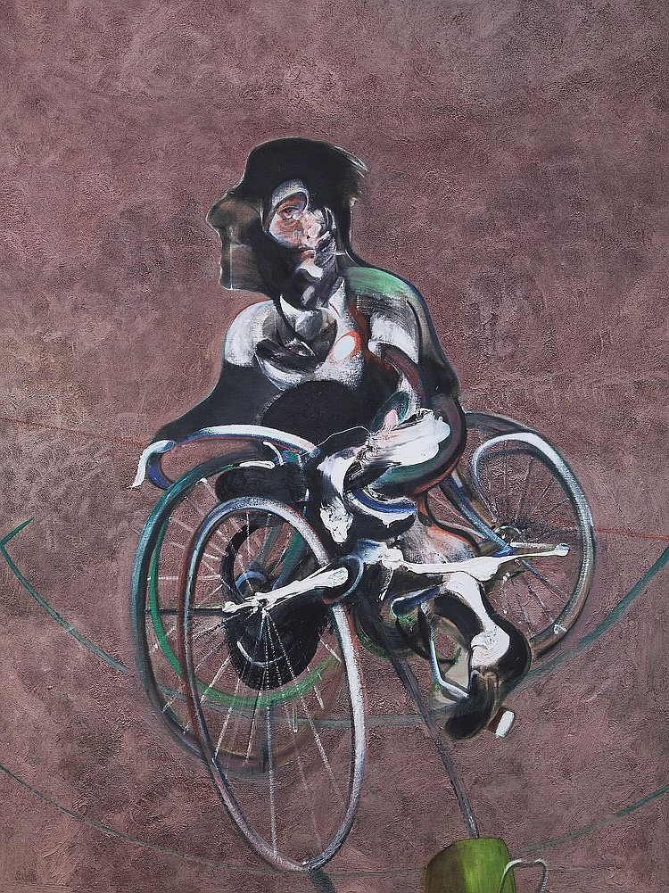 Francis Bacon (1909-1992)(after) - Portrait of George Dyer Riding a Bicycle