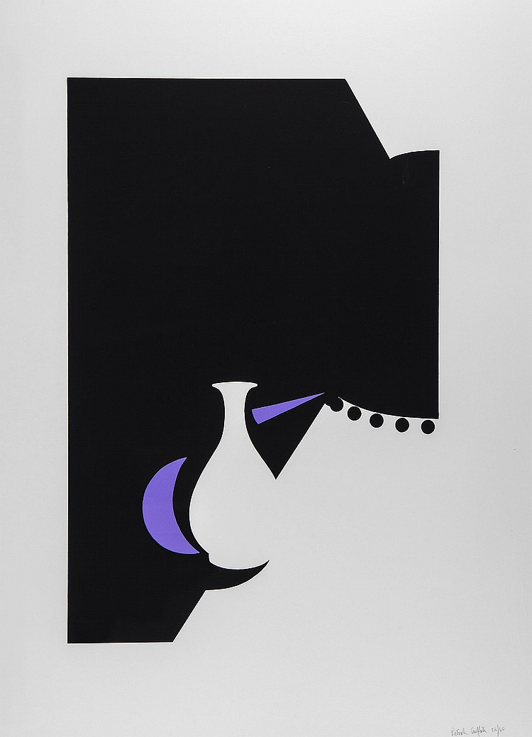 Patrick Caulfield (1936-2005) - Lung Ch'uan Ware and Black Lamp (C.79)