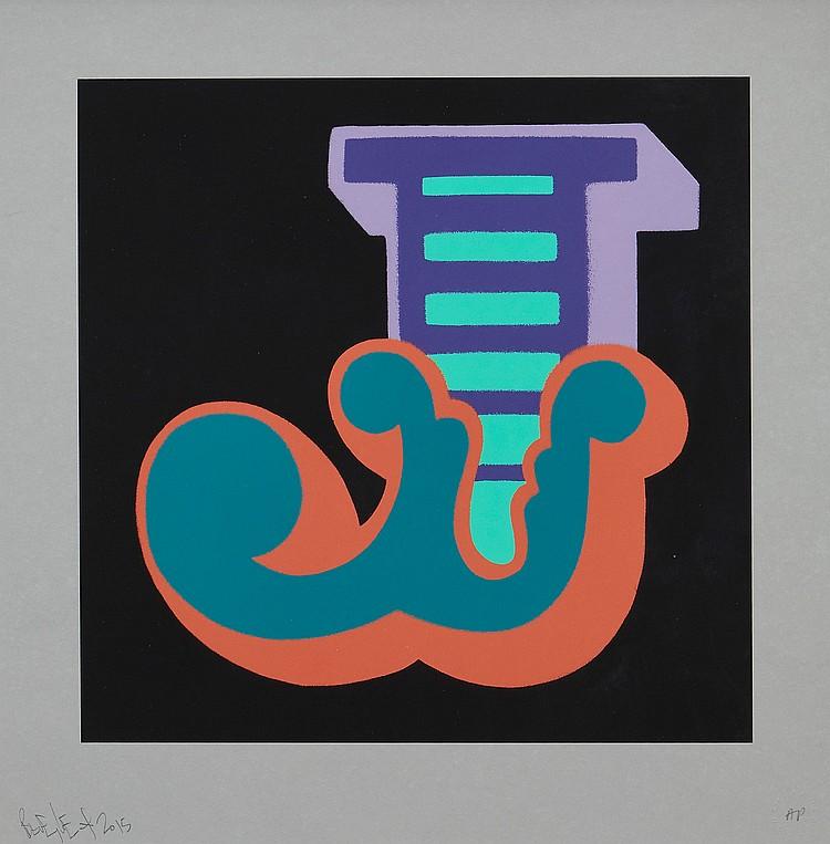 Ben Eine (b.1970) - J - Purple