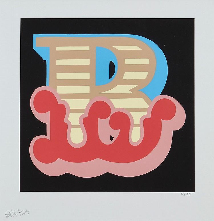 Ben Eine (b.1970) - B - Red