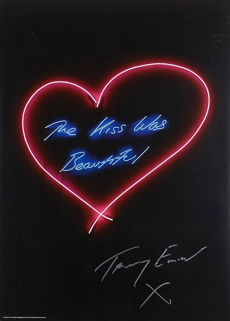 Tracey Emin (b.1963) - The Kiss was Beautiful