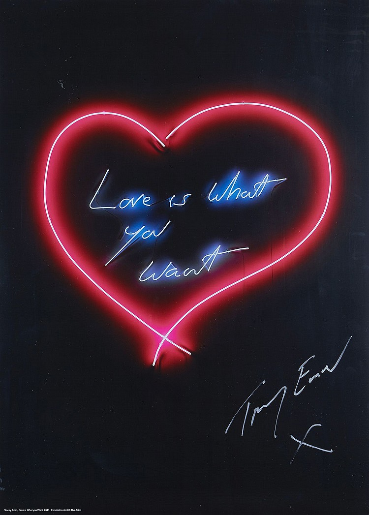 Tracey Emin (b.1963) - Love is What You Want