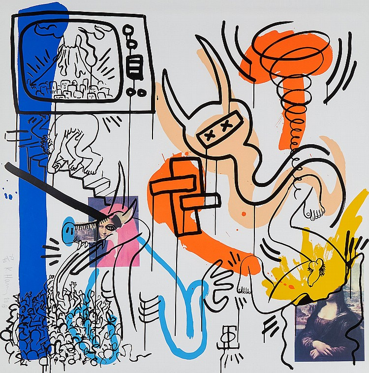 Keith Haring (1958-1990) - Apocalypse: one plate