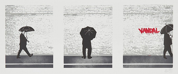 Nick Walker (b.1969) - The Vandal - Triptych