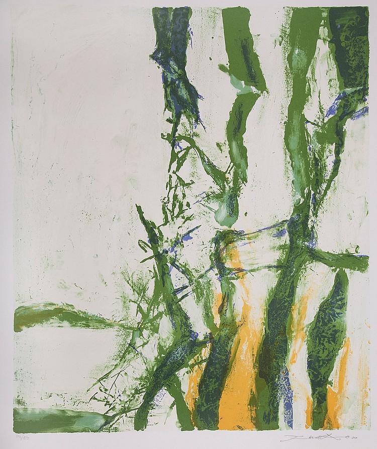 Zao Wou-Ki (1921-2013) - Le Printemps (from Les Quatre Saisons)