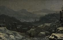Circle of Francesco Foschi (1710 - 1780) - A traveller in a snowy landscape