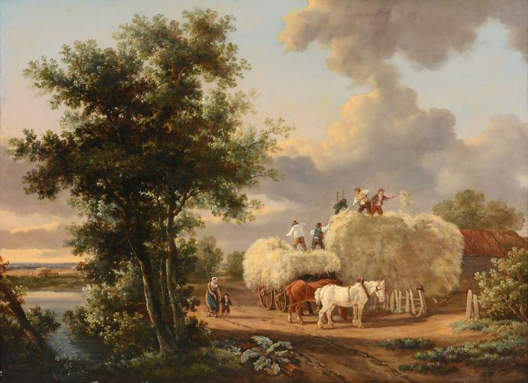 Charles Towne (1763-1840) - Haystacking