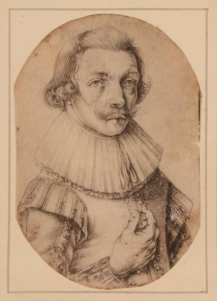 Netherlandish School (early 17th century) - Half-length portrait