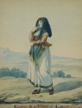 Bartolommeo Pinelli (1781-1835) - Donna di S.Maria di Capua; Donna di Milizzano