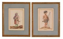 German School, 18th Century - Ten figures in 'National' costumes