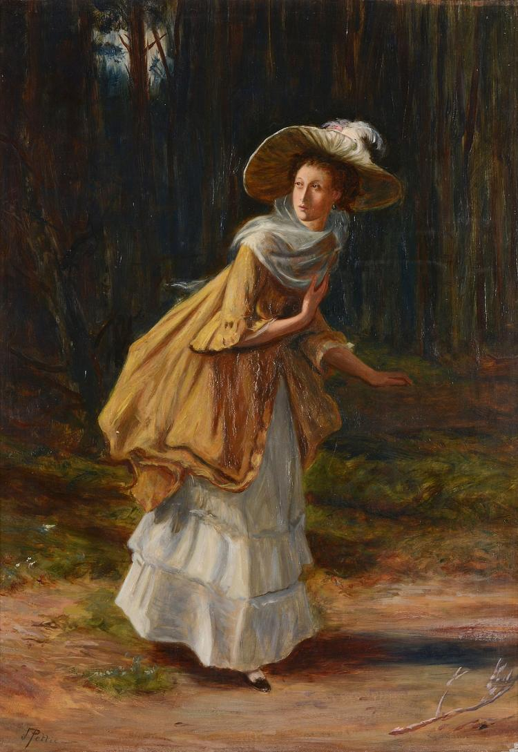 John Pettie (1839 - 1893) - A young lady