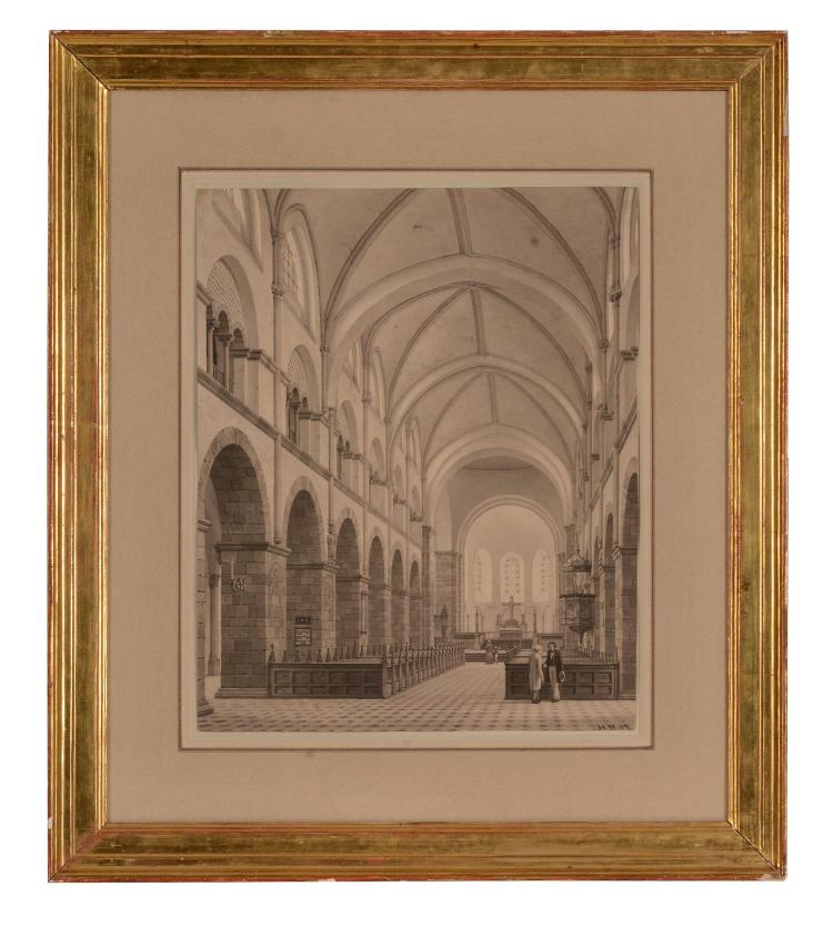 Heinrich Hansen (1821-1890) - Interior of Ribe Cathedral, Denmark