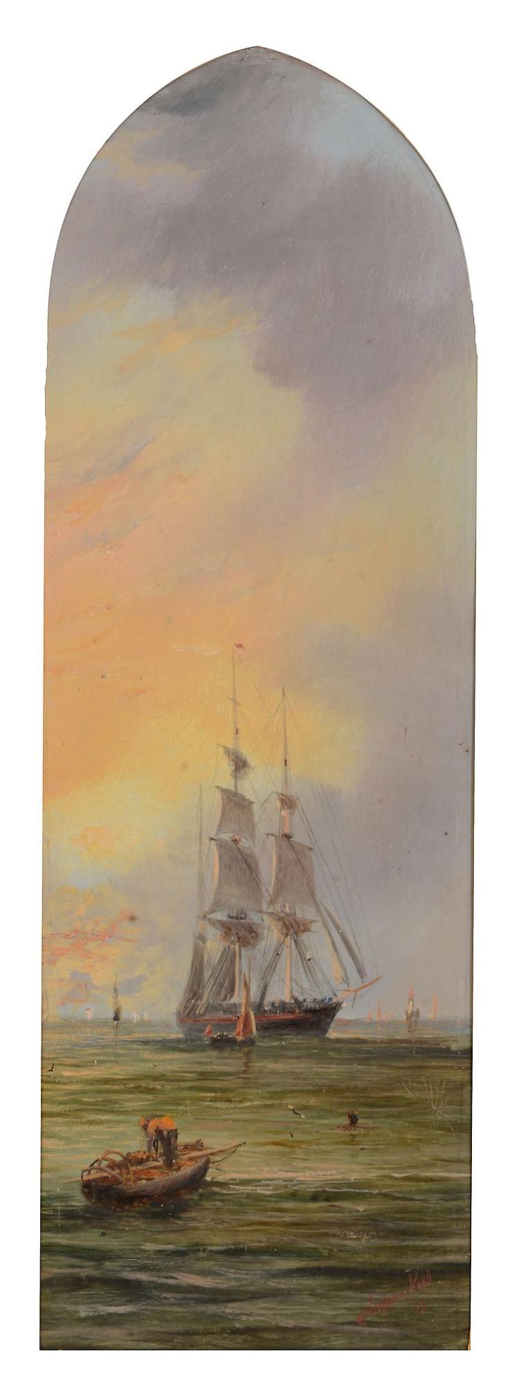 William Adolphus Knell (1802 - 1875) - Morning;Evening, a pair