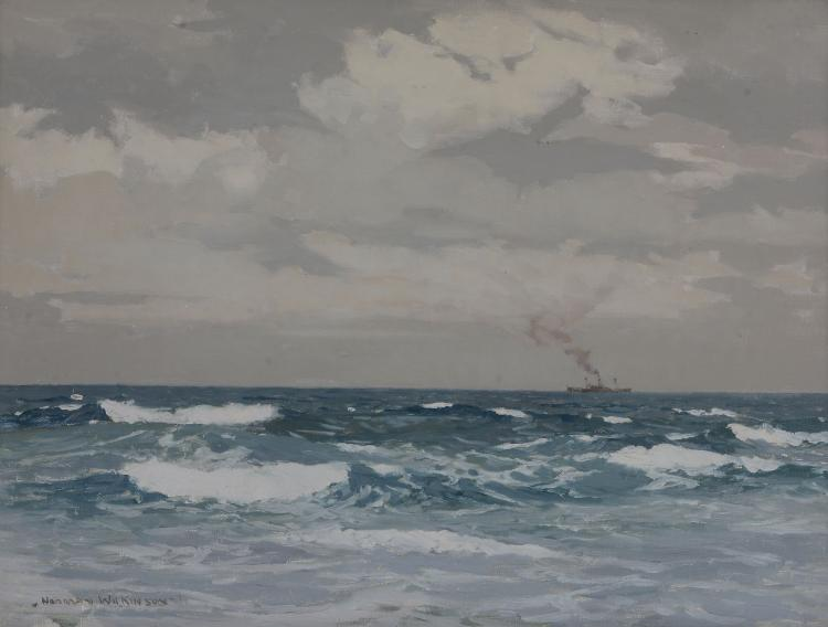 Norman Wilkinson (1878 - 1971) - Shipping in calm waters