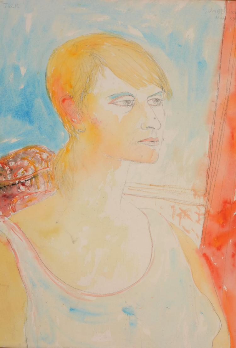 John Bellany (1942-2013) - Portrait of Julie