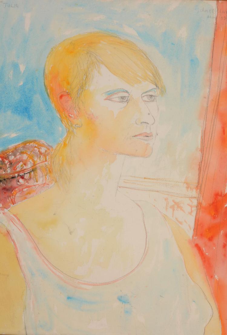 John Bellany (1942-2013) - Portrait of Julie