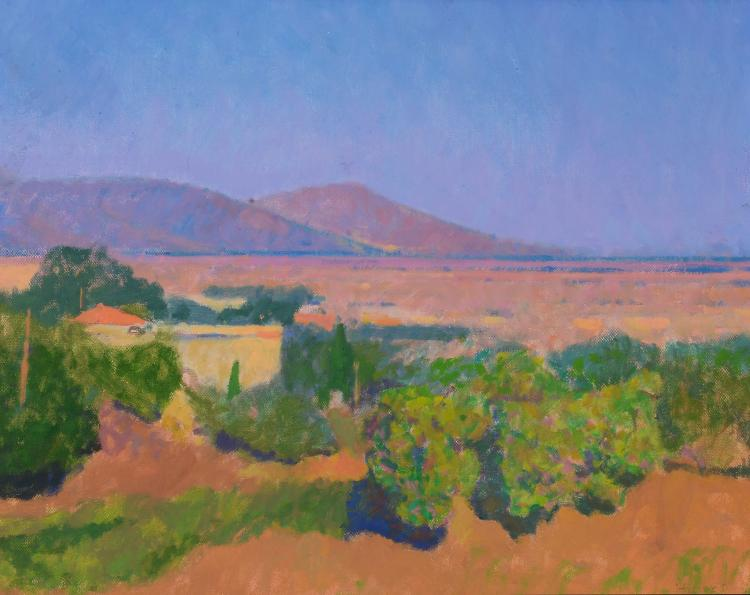 Colin Hayes (1919 - 2003) - South From Lepoura, Evvia, Greece