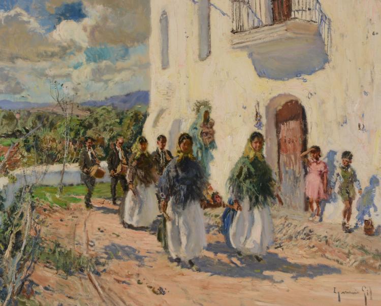 Ignacio Gil (1913 - 2003) - Procession en Ibiza