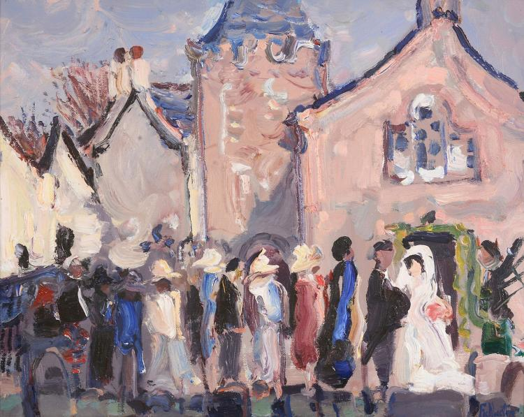 James Fullarton (b.1946) - Wedding at Straiton Church