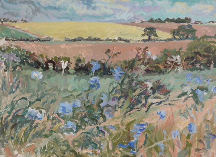 David Rolt (1915 - 1985) - Flowery Landscape
