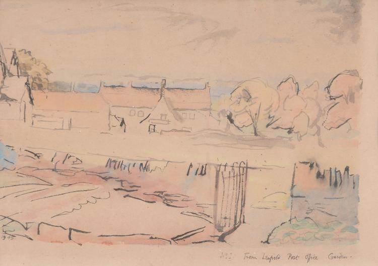 David Rolt (1915 - 1985) - From Leafield Post-Office Garden, Witney, Oxfordshire