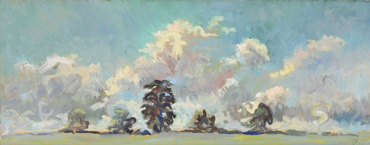 David Rolt (1915 - 1985) - Wiltshire Sky