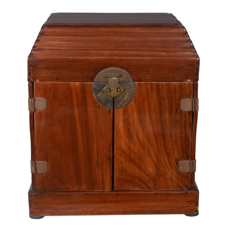 A Chinese hardwood seal chest, 19th or early 20th century