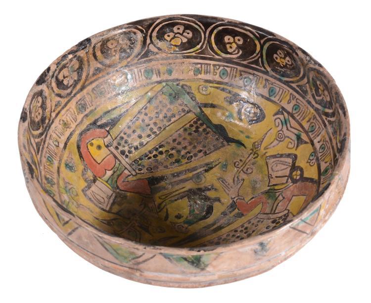 A Large Nishapur Figural Bowl, Persia, 10th Century