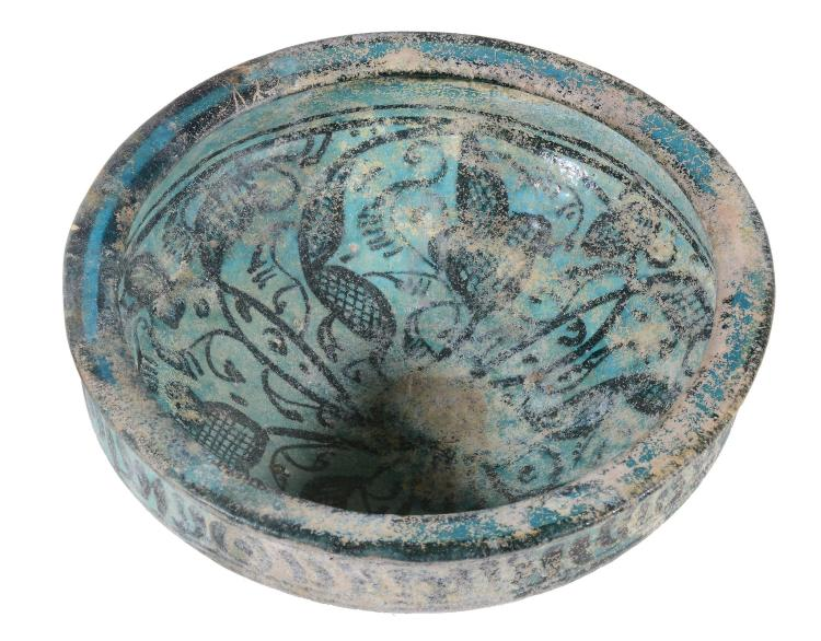A Kashan or Raqqa Bowl, Persia or Syria, 13th Century
