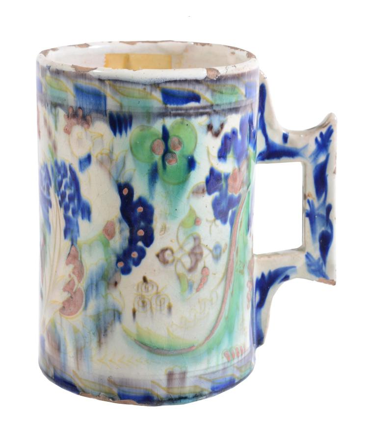 A Cantagalli maiolica mug in the Iznik style, circa 1900, 13