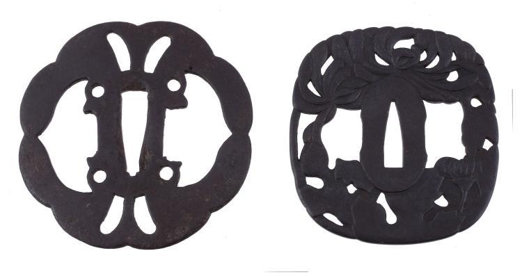 MIOCHIN MUNEKATSU: An Iron Tsuba, Edo Period