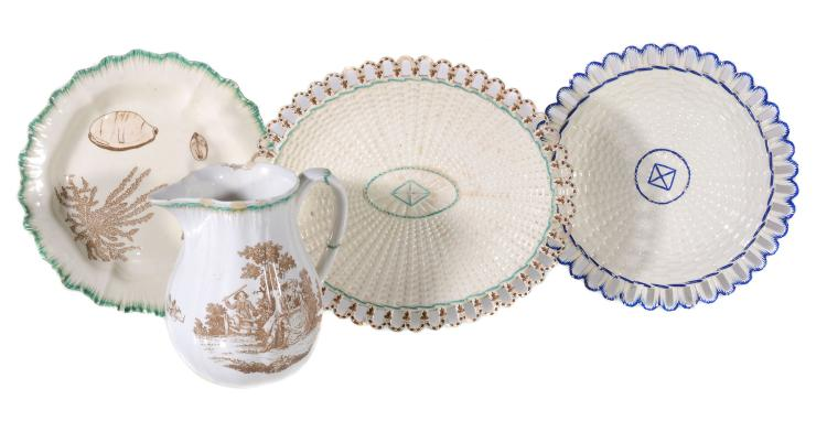 A selection of Neale & Co. creamware, circa 1790, comprising