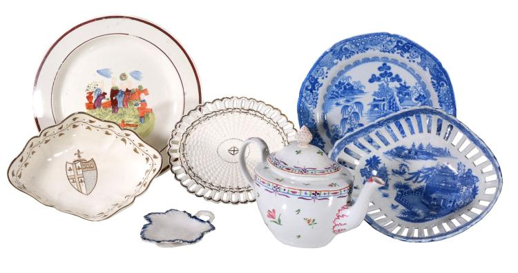 A selection of Turner ceramics, various dates circa 1800, comprising