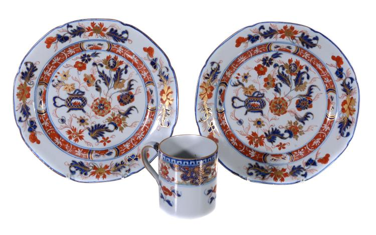 Three items of Turner's Patent ironstone china, circa 1805, comprising