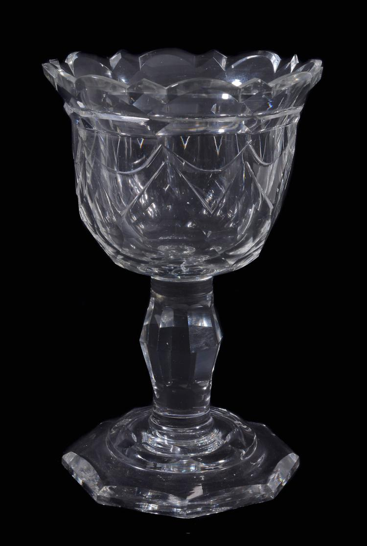 A facet-stemmed sweetmeat glass, last quarter 18th century