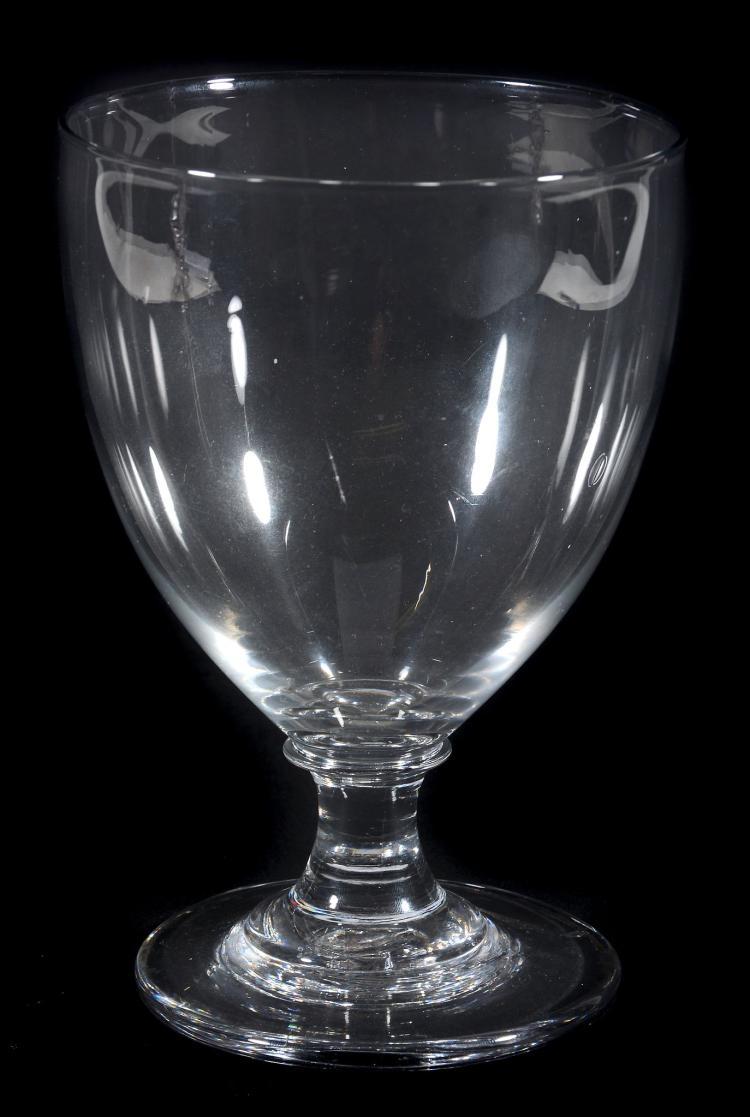 A large rummer, first quarter 19th century