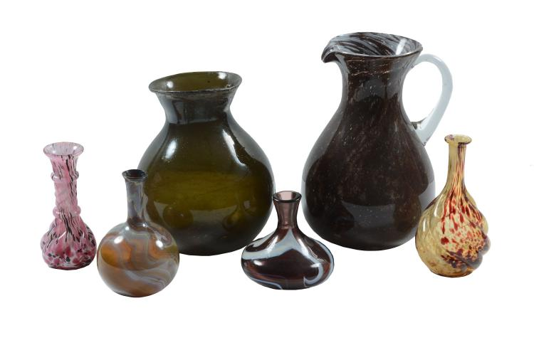 A selection of Continental mottled glass, 19th & 20th centuries