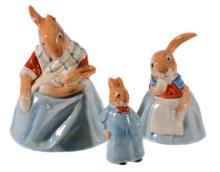 Three scarce Royal Doulton Bunnykins figures, 1930s, comprising
